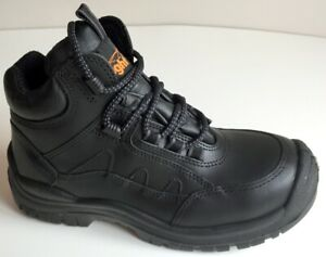 Safety Boots, Unisex Lightyear Black Hiker Boots, Shoes, Work Boots, UK 2.5 to 4