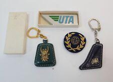 UTA, compagnie aérienne, écusson, porte-clé…vintage, lot 2