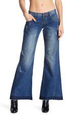 $140 One Teaspoon Westenders Distressed & Raw Hem Jeans BLEU CULT Size 24 NWT