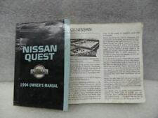 1994 Nissan Quest Owners Manual 17047