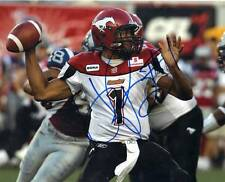 Henry Burris Calgary Stampeders CFL Football signed 8x10 photo proof w/COA
