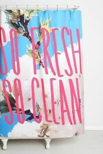 """NEW DENY LEAH FLORES SO FRESH AND SO CLEAN SHOWER CURTAIN 69"""" X 72"""""""