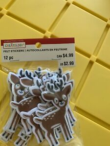 Creatology Felt Craft Stickers Reindeers Christmas Holiday 12 Piece