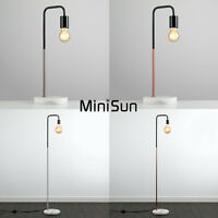 Vintage Industrial Style Floor / Table Lamp Solid Marble Lounge Light + LED Bulb