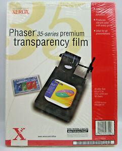 "Xerox Phaser 35 Series Premium Transparency Film 8.5 x 11"" 50 Sheets 016-1896-00"