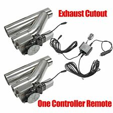 """2Pcs 3""""Electric Exhaust Downpipe E-Cut Out Valve + One Controller Remote Kit"""