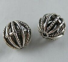 20pcs Tibetan Silver Round Hollow Ball Bead Spacers 18mm 12697