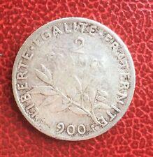 France -  3ème République - Rare et jolie  2 Francs  1900  semeuse - date rare