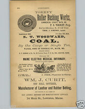 1878 PAPER AD Maine Electric Medical Infirmary Electro Vapor Baths Quackery