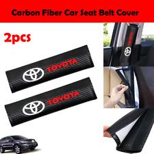 2pcs Carbon Fiber Car Seat Belt Cover Shoulder Pad For Toyota 3d Embroidery Fits 2002 Toyota Corolla