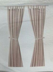 "Ikea LENDA Curtains + tie-backs 55""x98"" 1 pair, light pink 100% Cotton filtering"