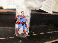 Superman 1975 Vintage promo glass Pepsi Great Condition