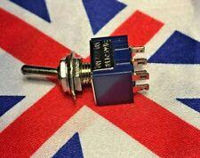✨✨ Mini Enclavamiento Interruptor Interruptor DPDT en-en AC 6A/125V ⭐ ✨✨ Reino Unido