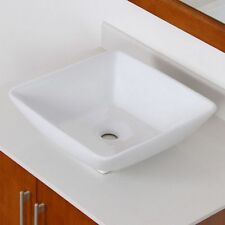 Bathroom White Ceramic Porcelain Vessel Vanity Sink + **FREE Pop Up Drain**4322