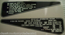 HONDA CB250RS FOOTREST PLATE CAUTION DECALS X 2