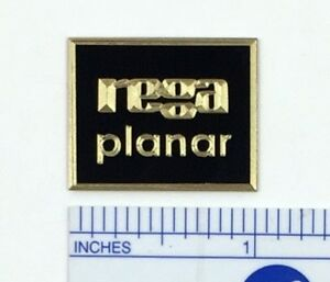 Custom Engraved Solid Brass Rega Planar turntable badge logo