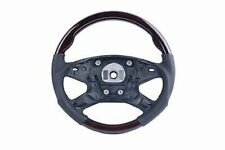 2009-13 for Mercedes E Class W212 Steering Wheel Walnut Wood Black Leather Sport