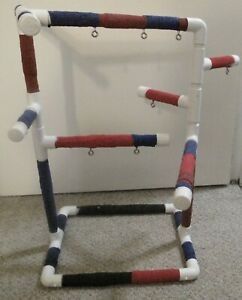 PVC Parrot Bird Play Gym FLOOR PERCH  Stand