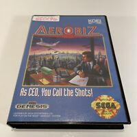 Aerobiz - Sega Genesis Game Case & Cart - No Manual - NOT Complete
