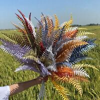 5 Branches DIY Fake Leaves Persian Grass Artificial Plants  Home Wedding Decor