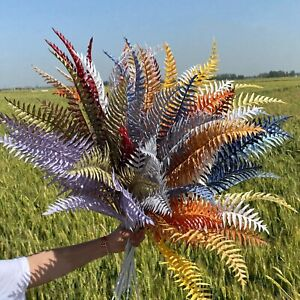 5 Branches DIY Fake Leaves Persian Grass Artificial Plants  Home Wedding Decor-