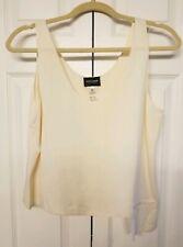 Giorgio Armani Size 46 Womens Silk Sleeveless Blouse