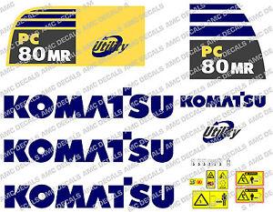 KOMATSU PC80MR DIGGER DECAL STICKER SET