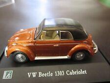 Cararama 1:72 VW Volkswagen Beetle 1303 Cabriolet Diecast Model w/ Display Case