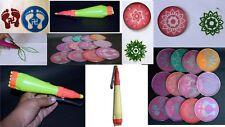 Combo of 10 rangoli stencils Jali and Rangoli Making Rangoli Outliner Pen