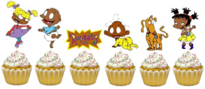 ETHNIC RUGRATS CAKE TOPPER TOPPERS CUPCAKE SUPPLIES BALLOONS DECORATIONS black