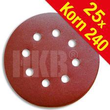 25 X Schleifscheiben, K240, ø=125mm, 8-Loch, Klett-Befestigung, Korund, 181638