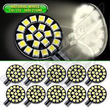 10x T10/921/194/168 RV Trailer Interior 12V Natural White LED Light Bulbs 21 SMD