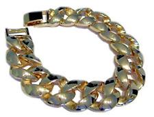 Miami Cuban Link 14K Gold Plated HipHop Bling Bracelet