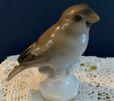 "Vintage Gerold Porzellan Bird Figurine #4964 Bavaria Germany 3"" Brown Gray Blk"