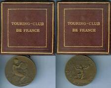 Médaille de table - Touring club de France A. MALLEY d=50,6mm Boîte d'origine