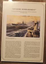Robert Taylor - Offshore Bombardment - Aviation Art FLYER