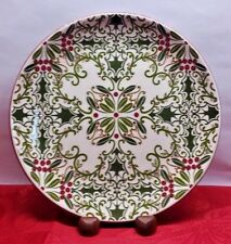 """Holly Berry Decorative Christmas Holiday Plate ~ Dessert/Cookie Plate ~ 8 1/4"""""""