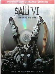 Saw VI DVD 6 TOBIN BELL HORROR Shawnee Smith UNRATED 2009 Directors Cut