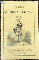 1882 Ayer's American Almanac Lowell MA 20 Pg