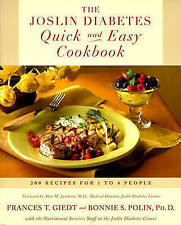 NEW The Joslin Diabetes Quick and Easy Cookbook: 200 Recipes for 1 to 4 People