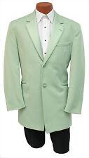 Mens 44R Light Sage Green Monaco Dinner Jacket Retro Tuxedo Prom Formal Tux Coat
