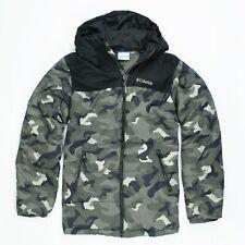 Kids Jacket COLUMBIA Parka puffer Jacket Size L (14/16) - Grey camo