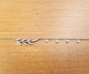 MEIRA T 18K Gold and Diamond Leaf Station Necklace with Charms