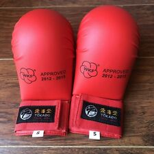 Tokido Karate Kids Fist Gear Gloves WKF Approved Red Small