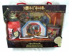 Pirates of the Caribbean Mealtime Plate,Bowl,Folk&Spoon,Cup, and Sports Bottle