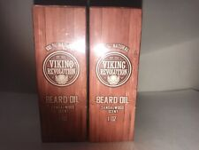 2x Viking Revolution Beard Oil Sandal Wood Scent 1 Oz. New Sealed 100% Natural