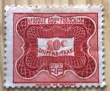 COLONIES FRANCAISES AFRIQUE EQUATORIALE FRANCAISE  TAXE ** - 10c