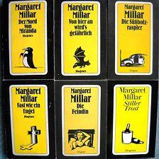 8 x Margaret Millar -  Diogenes Taschenbücher - goldenen Gelben - Tomi Ungerer