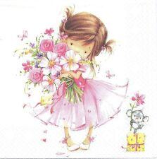 2 Serviettes en papier enfant Petite Princesse - Paper Napkins Little Princess
