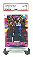 2019 Prizm RC PINK ICE Refractor ZION WILLIAMSON RC Card PSA 8 NM-MT / Low Pop!